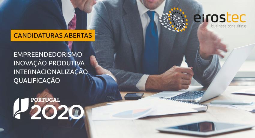 Abertas Novas Candidaturas ao Portugal 2020